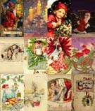 Example of Xmas and New Year cards  collection