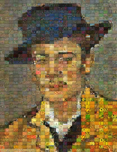 Van Gogh's Portrait of Armand Roulin mosaic