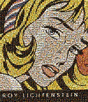 Roy Lichtenstein  interactive photo mosaic.